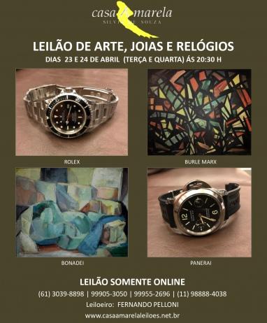 LEILÃO DE ARTE, JOIAS E RELÓGIOS