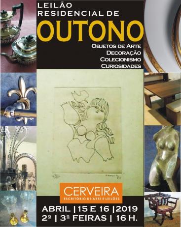 LEILÃO RESIDENCIAL DE OUTONO   OBJETOS DE ARTE DECORAÇÃO COLECIONISMO.
