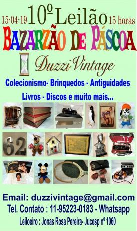 Bazarzão de Páscoa- DuzziVintage-Colecionismo-Brinquedos-Antiguidades-Discos-Livros e muito mais...