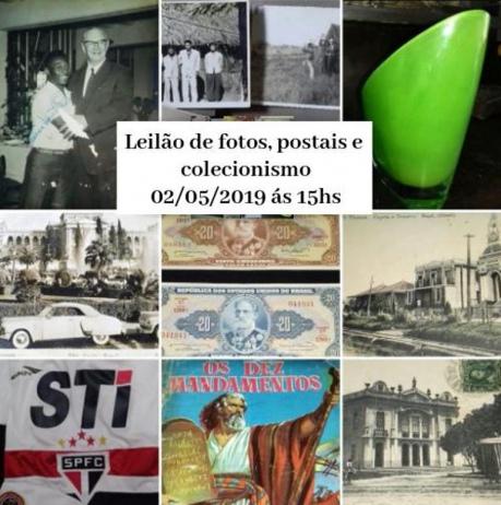 LEILÃO DE FOTOS, POSTAIS E COLECIONISMO
