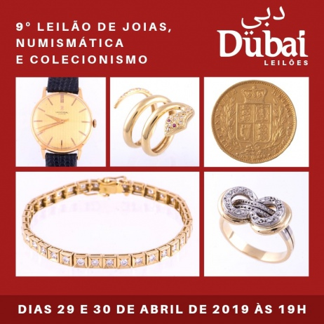 9º LEILÃO DUBAI DE JOIAS, NUMISMÁTICA E COLECIONISMO EM GERAL