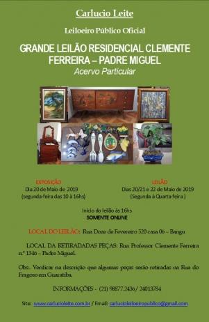 LEILÃO RESIDENCIAL RUA PROFESSOR CLEMENTE FERREIRA 1346 - PADRE MIGUEL. ANTECIPEM SEUS LANCES .