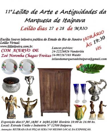 11º LEILÃO DE ARTE E ANTIGUIDADES MARQUESA DE ITAIPAVA