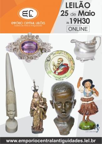 LEILÃO DE ARTE E ANTIGUIDADES E COLECIONISMO.