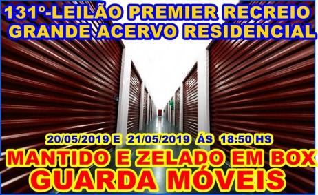 131º-LEILÃO PREMIER RECREIO-GRANDE ACERVO RESIDENCIAL MANTIDO  EM BOX GUARDA MÓVEIS.