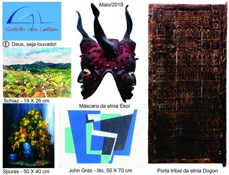 LEILÃO DE ARTE (destaque p/ tribal africana), COLEÇÃO DE CANETAS, CURIOSIDADES e DECORAÇÃO
