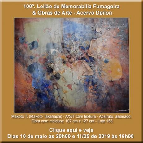 100º Leilão de Obras de Arte & Memorabilia Fumageira - 10 e 11 de Maio de 2019 - Acervo DPilon