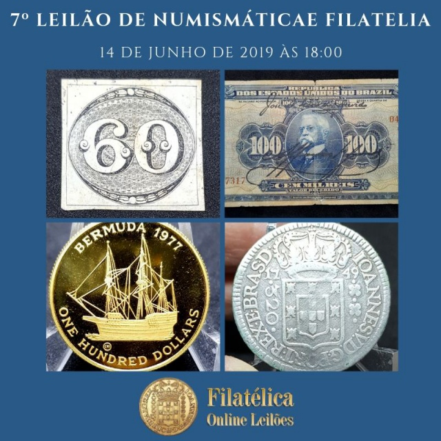 6º LEILÃO DE NUMISMÁTICA E FILATELIA - FILATÉLICA ONLINE LEILÕES