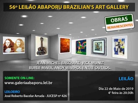 56º LEILÃO DA ABAPORU BRAZILIANS ART GALLERY