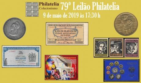 79º Leilão de Filatelia e Numismática - Philatelia Selos e Moedas