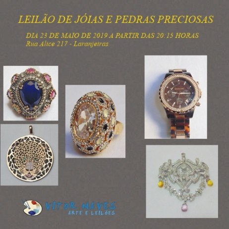 LEILÃO DE JÓIAS E PEDRAS PRECIOSAS