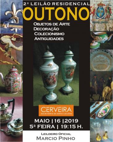 2º LEILÃO RESIDENCIAL DE OUTONO | OBJETOS DE ARTE | DECORAÇÃO|COLECIONISMO - MAIO 2019