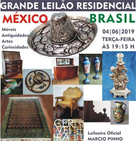 GRANDE LEILÃO RESIDENCIAL MÉXICO BRASIL | MÓVEIS, ANTIGUIDADES, ARTES e CURIOSIDADES