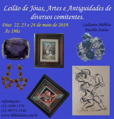 LEILÃO DE JÓIAS, ARTES E ANTIGUIDADES DE DIVERSOS COMITENTES - N. 11678