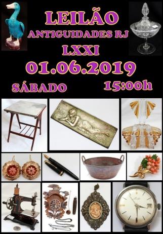 LEILÃO ANTIGUIDADES RJ LXXI