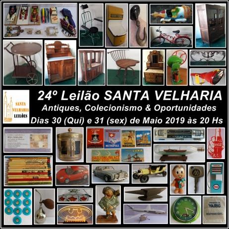 24º LEILÃO MÓVEIS, ANTIQUES, COLECIONISMO & OPORTUNIDADES  30 e 31 de Maio - 20hs