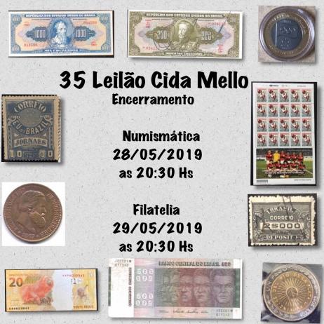 35º LEILÃO CIDA MELLO NUMISMÁTICA E FILATELIA
