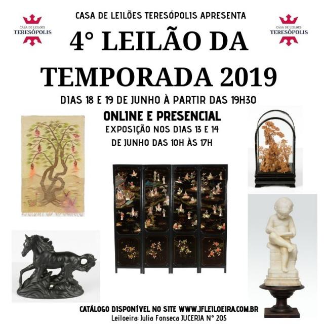 4º Grande Leilão da Temporada 2019 - Casa de Leilões Teresópolis