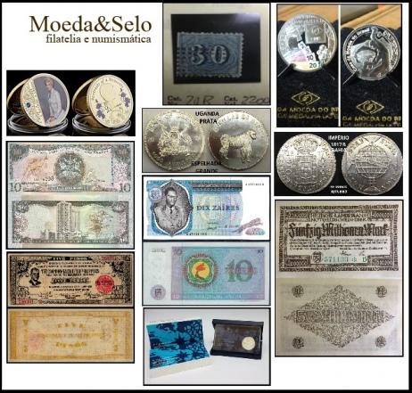 230 - LEILÃO MOEDA E SELO - COLECIONANDO SEMPRE NOVAS EMOÇÕES - CÉDULAS MOEDA E SELOS !