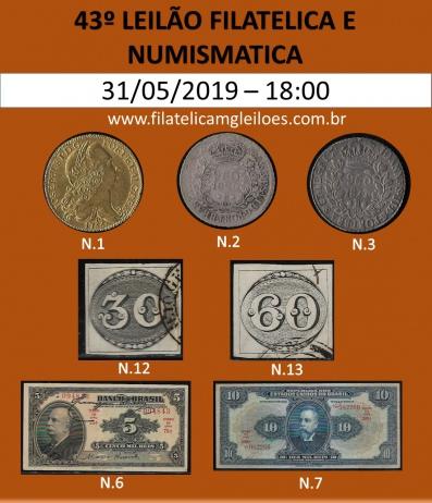 42º LEILÃO FILATÉLICA E NUMISMÁTICA