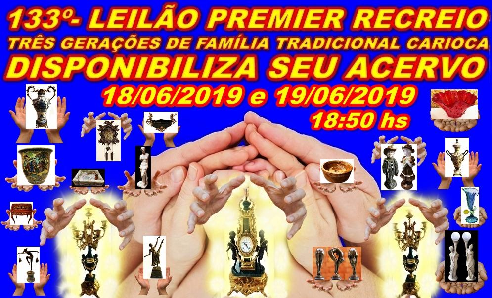 133º-LEILÃO PREMIER RECREIO-TRÊS GERAÇÕES DE FAMÍLIA TRADICIONAL DISPONIBILIZA  ACERVO.