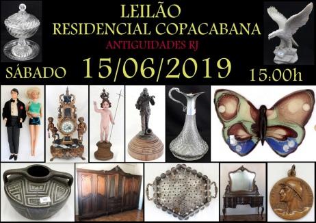 LEILÃO RESIDENCIAL COPACABANA ANTIGUIDADES RJ