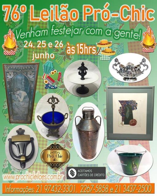 76º  LEILÃO PRO CHIC- Venham festejar com a gente !