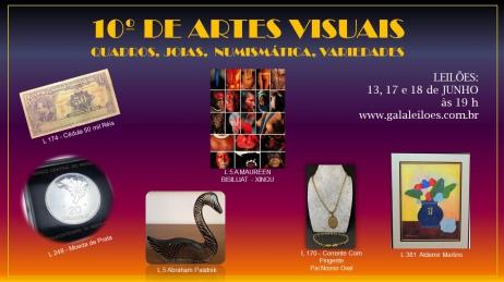 10º DE ARTES VISUAIS:QUADROS,JOIAS,  NUMISMÁTICA, VARIEDADES