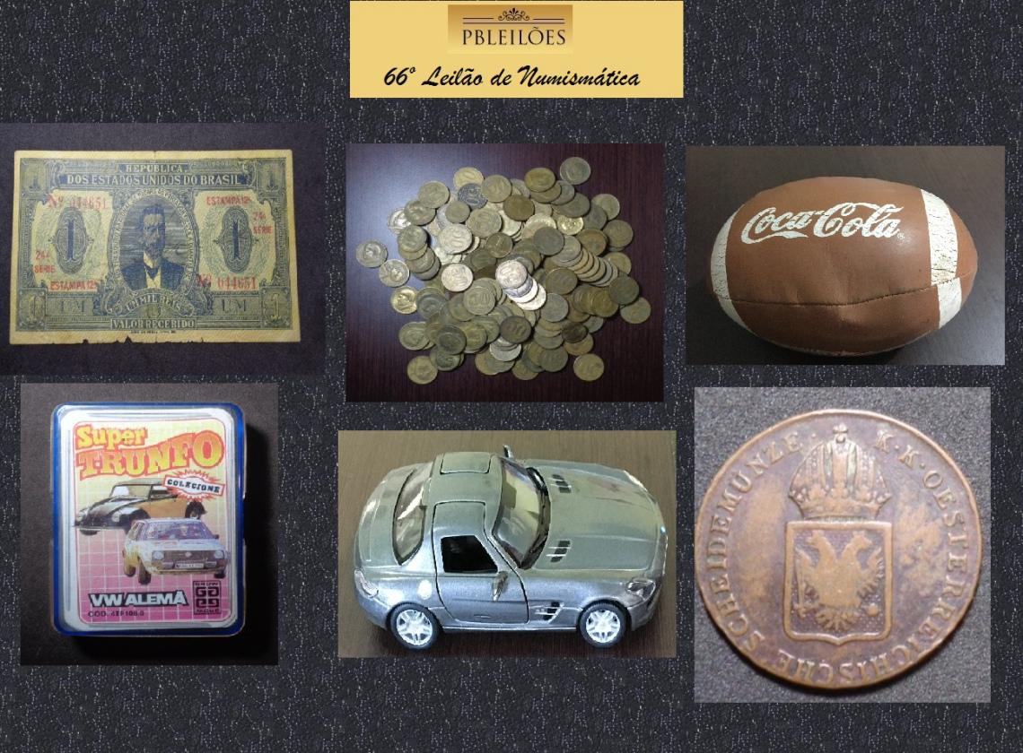 66º Leilão de Numismática, Colecionáveis e outros