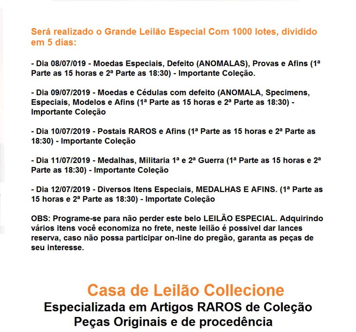 2º LEILÃO COLLECIONE.COM - 2019 - COLEÇÃO MOURA