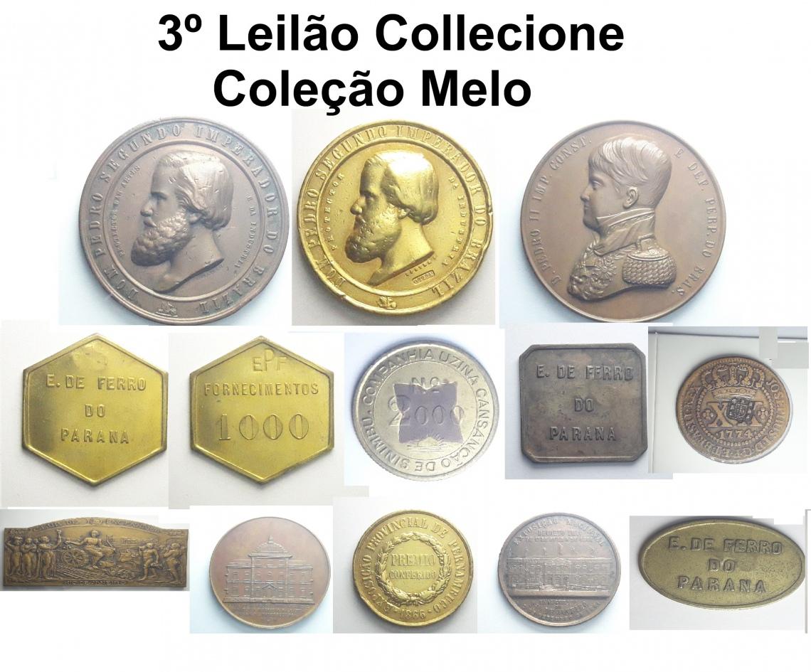 3º LEILÃO COLLECIONE.COM 2019 - Numismática e Afins - Coleção Melo