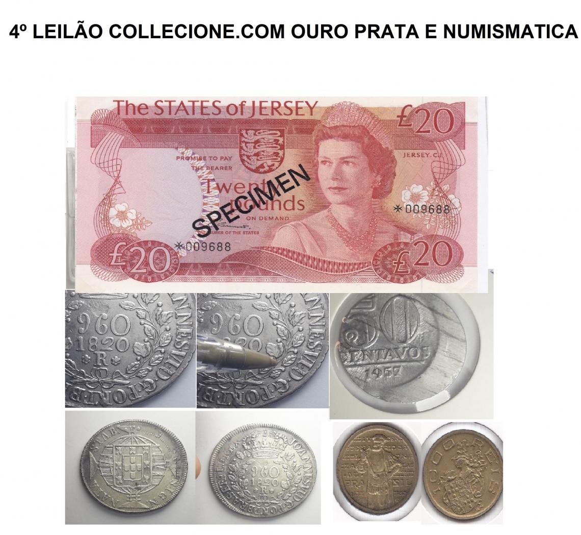 4º LEILÃO COLLECIONE.COM 2019 - OURO PRATA E NUMISMATICA