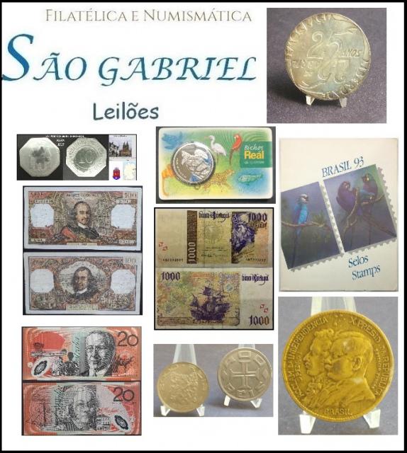 39º LEILÃO SÃO GABRIEL DE SELOS - MOEDAS E CEDULAS  UM SHOW DE COLECIONISMO!