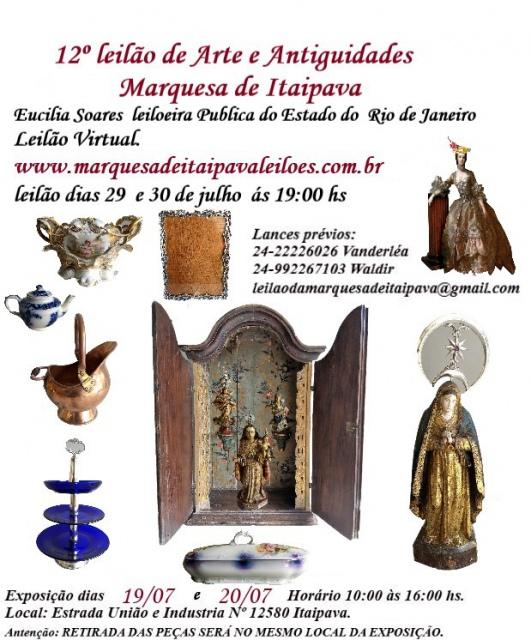 12º LEILÃO DE ARTE E ANTIGUIDADES MARQUESA DE ITAIPAVA