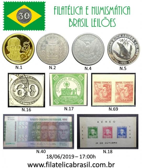 XXIII LEILÃO DE COLECIONISMO FILATÉLICA E NUMISMÁTICA BRASIL