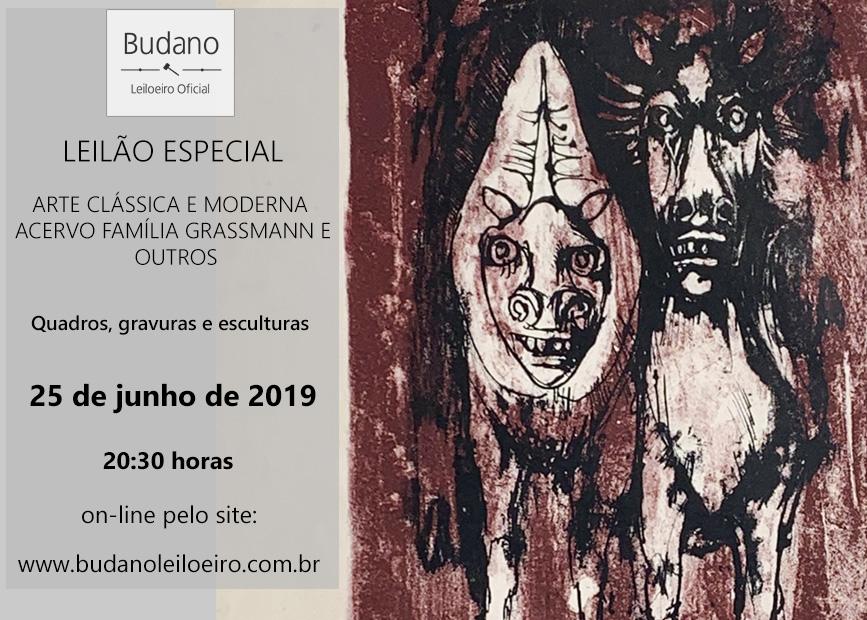 LEILÃO ESPECIAL DE ARTE CLÁSSICA E MODERNA - ACERVO FAMÍLIA GRASSMANN E OUTROS