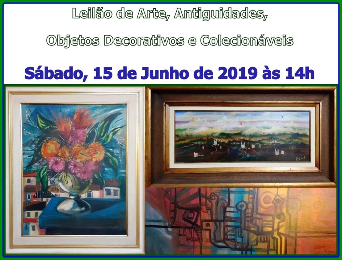 Leilão de Arte, Antiguidades, Objetos Decorativos e Colecionáveis.