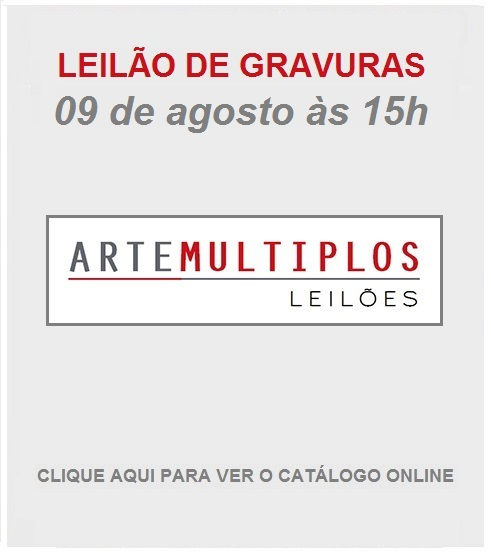 LEILÃO DE GRAVURAS - 09 de AGOSTO de 2019 às 15h