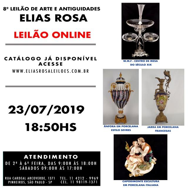 8º LEILÃO DE ARTE E ANTIGUIDADES ELIAS ROSA
