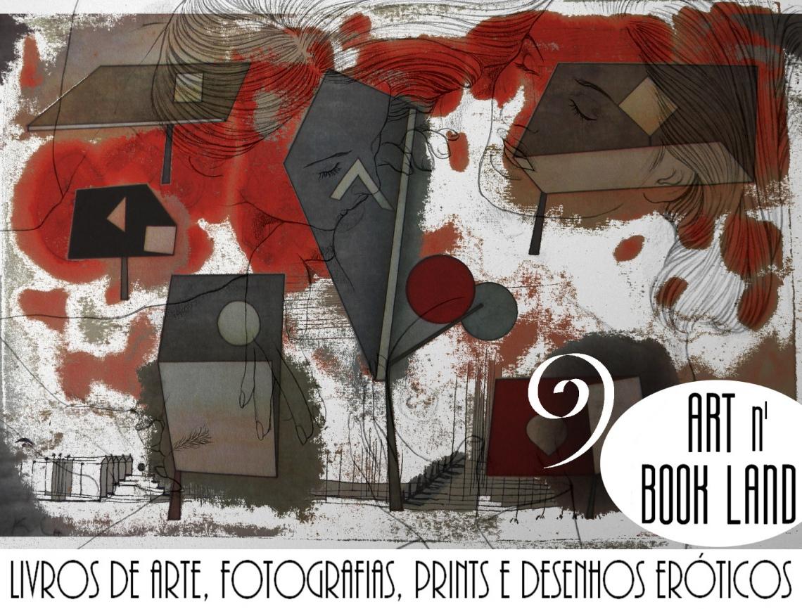 Art n Book Land 9 - Leilão residencial - livros de arte, fotografias, prints e desenhos eróticos