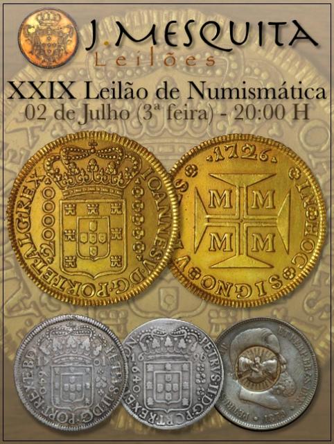 XXIX Leilão J.Mesquita -  Especial de Numismática