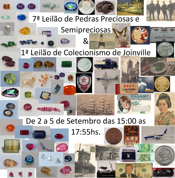 5ª Leilão de Pedras Preciosas e Semipreciosas de Joinville