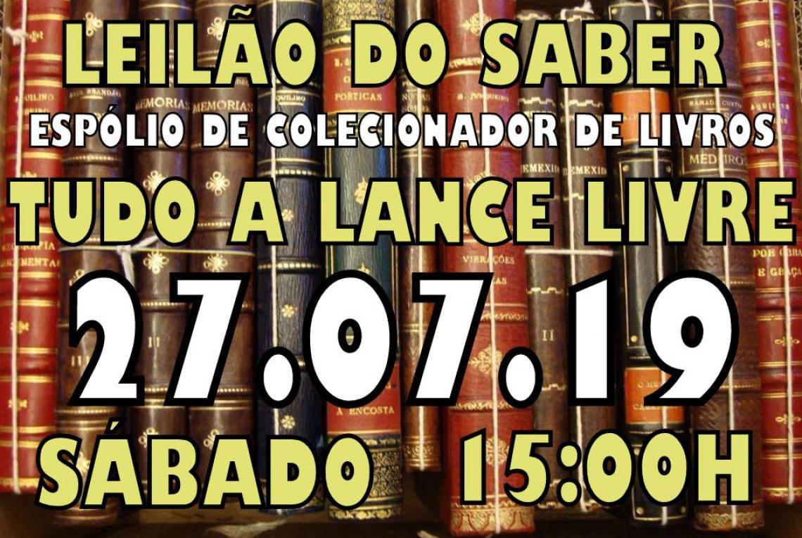 LEILÃO DO SABER, ESPÓLIO DE COLECIONADOR DE LIVROS