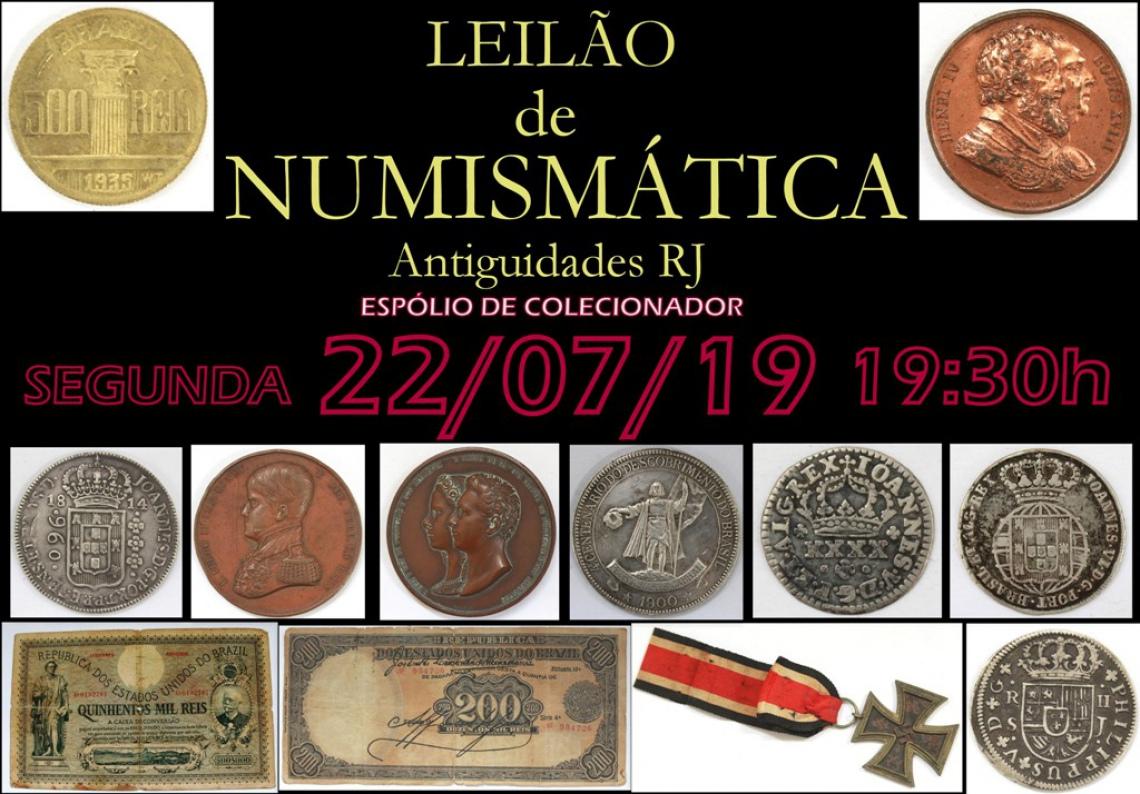 LEILÃO DE NUMISMÁTICA ANTIGUIDADES RJ