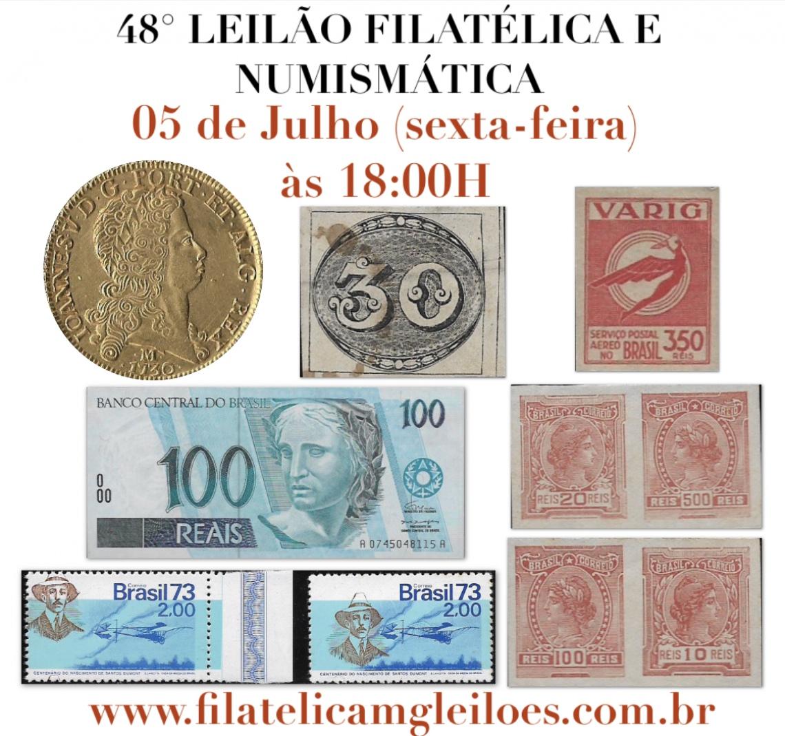 48º LEILÃO FILATÉLICA E NUMISMÁTICA
