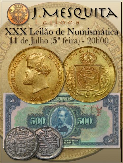 XXX Leilão J.Mesquita -  Especial de Numismática