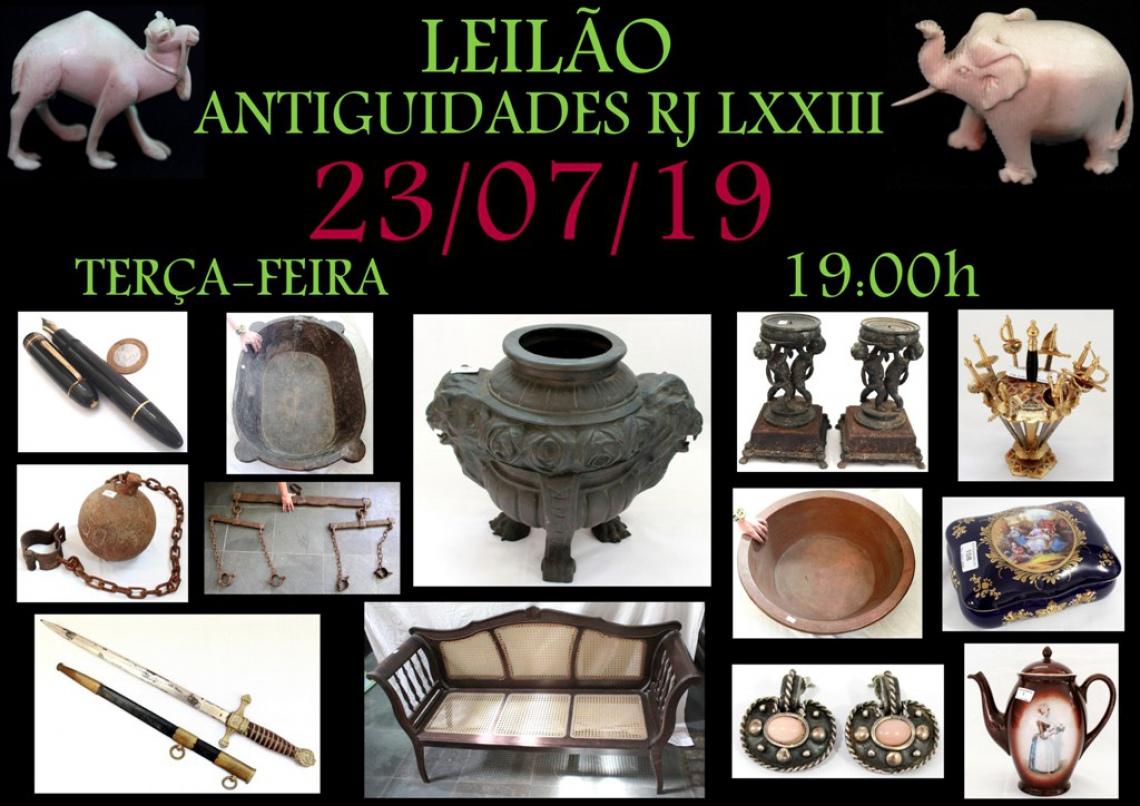 LEILÃO ANTIGUIDADES RJ LXXIII