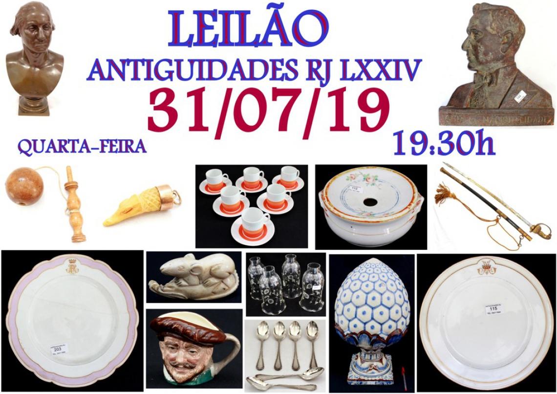 LEILÃO ANTIGUIDADES RJ LXXIV