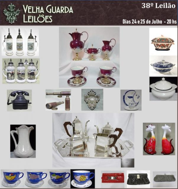 38º LEILÃO VELHA GUARDA LEILÕES - Arte, Antiguidades, Decorações e Colecionismo.