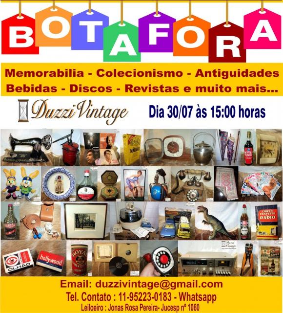 13ºLEILÃO BOTAFORA-DUZZIVINTAGE-Memorabilia-Colecionismo-Antiguidades-Bebidas-Discos e muito mais